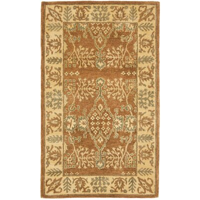 Bergama Light Brown/Beige Area Rug Rug Size: 3' x 5'