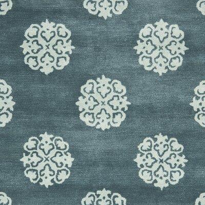 Soho Slate Blue/Light Blue Area Rug Rug Size: Rectangle 76 x 96
