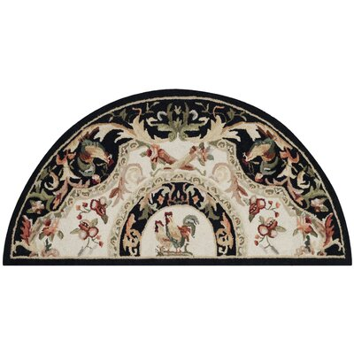 Kinchen Ivory/Black Novelty Area Rug Rug Size: Rectangle 26 x 5