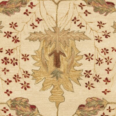 Anatolia Cream/Red Area Rug Rug Size: 6' x 9'