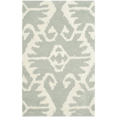 Kouerga Gray/Ivory Area Rug Rug Size: Rectangle 89 x 12
