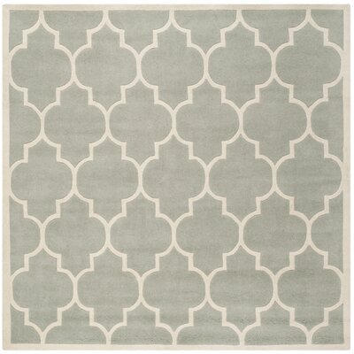 Chatham Gray / Ivory Moroccan Rug Rug Size: Square 7'