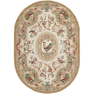Kinchen Taupe Novelty Area Rug Rug Size: Oval 76 x 96
