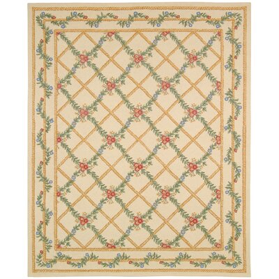 Kinchen Ivory French Trellis Rug Rug Size: Rectangle 1'8