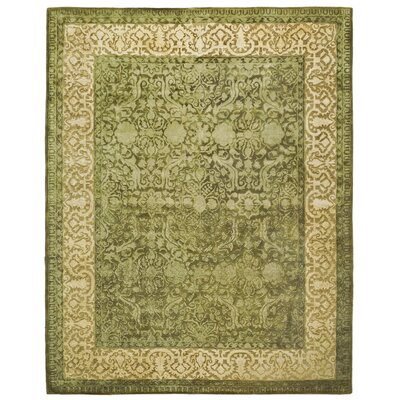 Silk Road Spruce/Ivory Area Rug Rug Size: Rectangle 76 x 96