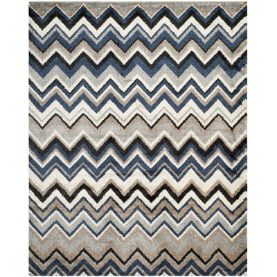 Tahoe Grey / Light Blue Geometric Rug Rug Size: Rectangle 5'1