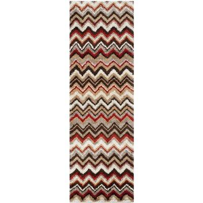 Tahoe Beige / Brown Geometric Rug Rug Size: Runner 23 x 8