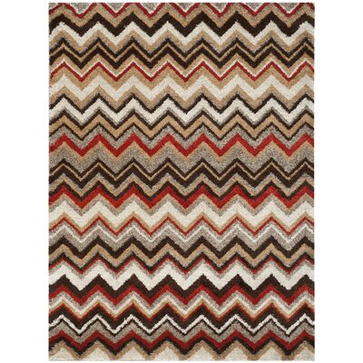 Tahoe Beige / Brown Geometric Rug Rug Size: Rectangle 8 x 10