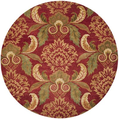 Metro Floral Rug Rug Size: Round 8