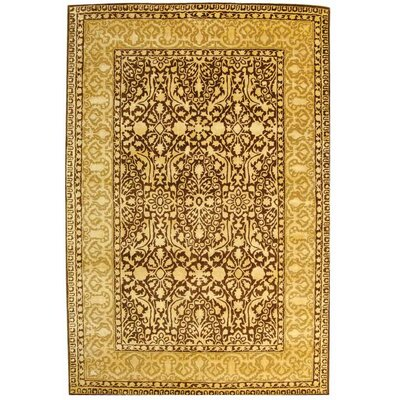 Silk Road Brown/Ivory Area Rug Rug Size: 96 x 136