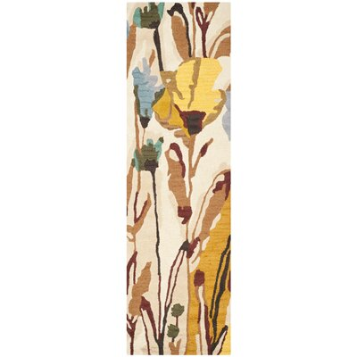 Jardin Ivory/Multi Area Rug Rug Size: Runner 23 x 8