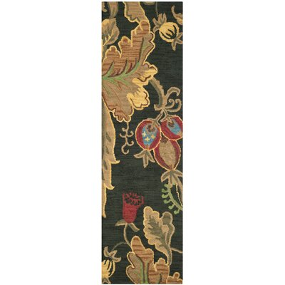 Jardin Black/Multi Area Rug Rug Size: Runner 23 x 8