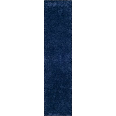 Starr Hill Navy Blue Area Rug Rug Size: Runner 2 x 8