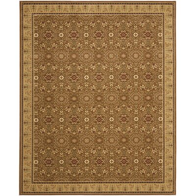 Treasures Olive/Caramel Rug Rug Size: Rectangle 5'1