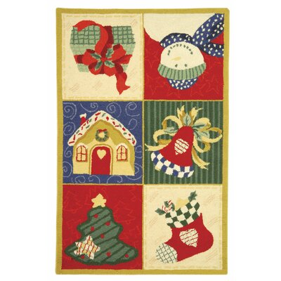Kinchen Chirstmas Day Novelty Rug Rug Size: Rectangle 79 x 99