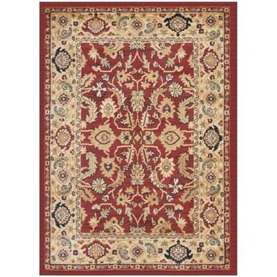 Austin Red/Creme Area Rug Rug Size: 8 x 11