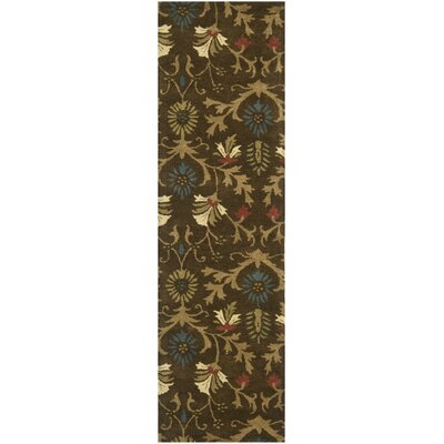 Botanica Brown/Multi Floral Area Rug Rug Size: Runner 23 x 8