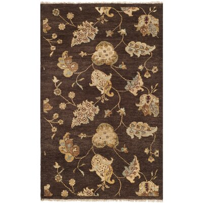 Agra Brown Area Rug Rug Size: 6 x 9