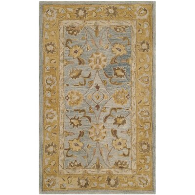 Anatolia Blue/Green Area Rug Rug Size: Rectangle 3 x 5