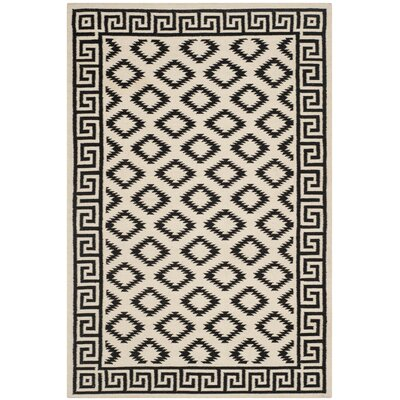 Dhurries Brown/Ivory Area Rug Rug Size: 4 x 6