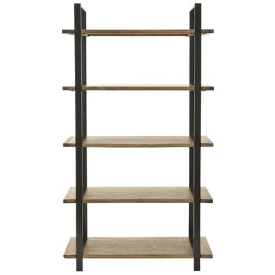 Carol 65 Etagere Bookcase Finish: Oak
