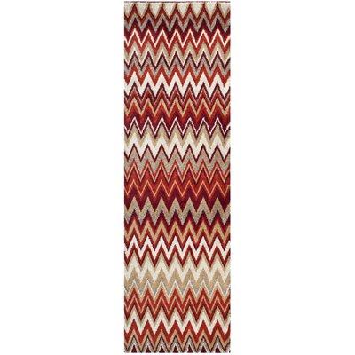 Tahoe Beige / Terracotta Geometric Rug Rug Size: Runner 23 x 8