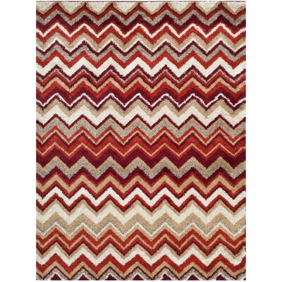 Tahoe Beige / Terracotta Geometric Rug Rug Size: Rectangle 8 x 10