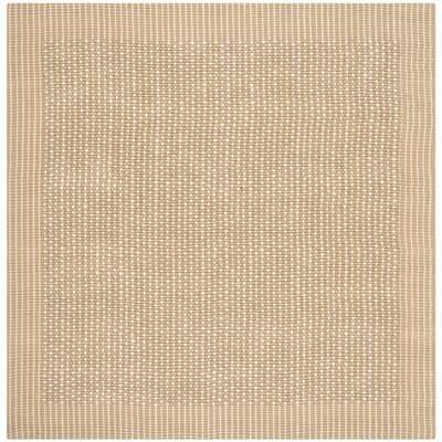 Heyburn Ivory/Beige Area Rug Rug Size: Square 8