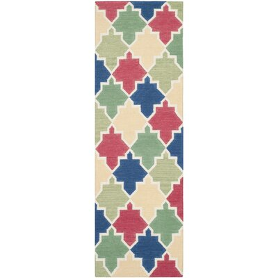 Dhurries Area Rug Rug Size: Runner 26 x 8