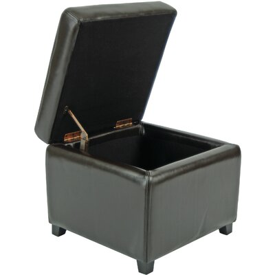 Jonathan Cube Storage Ottoman Color: Black