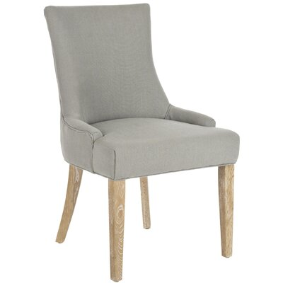 Lester Side Chair Upholstery/Color: Granite/White Wash