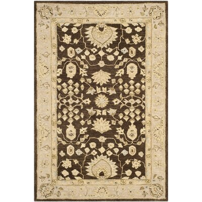 Anatolia Chocolate/Ivory Area Rug Rug Size: Rectangle 9 x 12