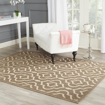 Octavius Brown/Bone Indoor/Outdoor Area Rug Rug Size: Rectangle 67 x 96