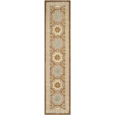 Naples Ivory Area Rug Rug Size: Runner 23 x 12