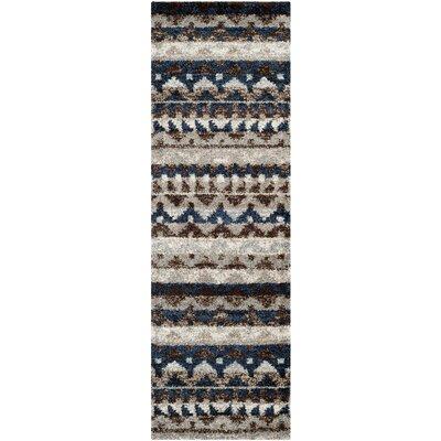 Tahoe Beige / Grey Geometric Rug Rug Size: Runner 23 x 8
