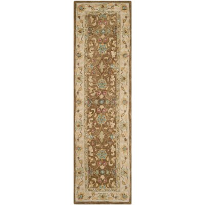 Anatolia Brown/Ivory Area Rug Rug Size: Runner 23 x 8