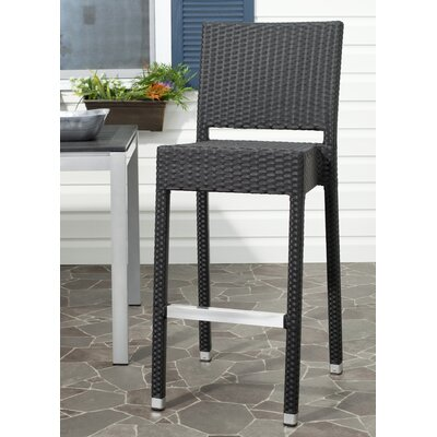 Bethel 29.5 Bar Stool Frame Finish: Black