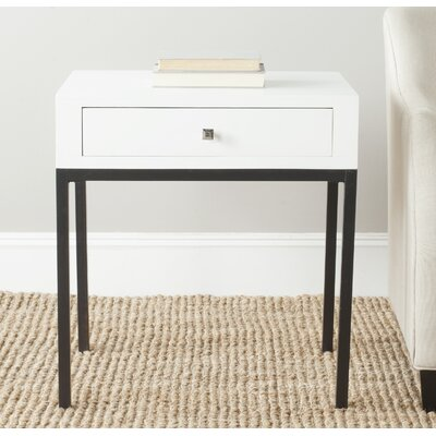 Adena End Table Color: White