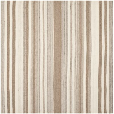 Dhurries Natural/Camel Area Rug Rug Size: Square 7