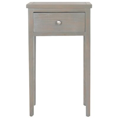 Abel End Table With Storage Color: French Grey