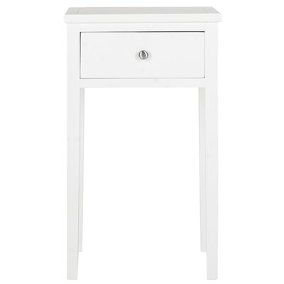 Abel End Table With Storage Color: White