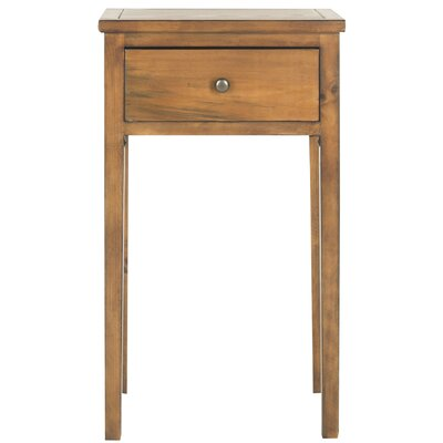 Abel End Table With Storage Color: Brown