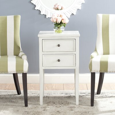 Erion End Table Color: White