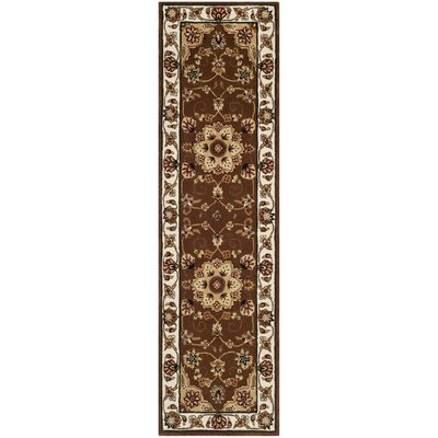 Traditions Tan/Ivory Area Rug Rug Size: Runner 23 x 8