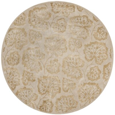 Geranium Leaf Hazelnut/Gold Area Rug Rug Size: Rectangle 26 x 43