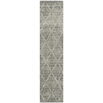 Strolling Garden Rock Garden/Grey Rug Rug Size: Rectangle 26 x 43