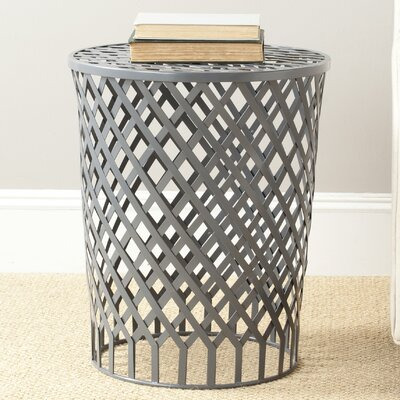 Kenny Epoxy Strips Welded Stool Color: Grey