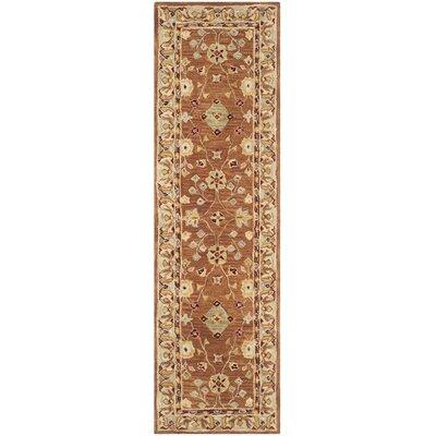 Anatolia Tan/Ivory Area Rug Rug Size: Runner 23 x 8