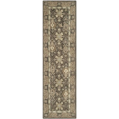 Anatolia Brown/Beige Area Rug Rug Size: Runner 23 x 8