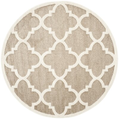 Amherst Round Wheat Area Rug